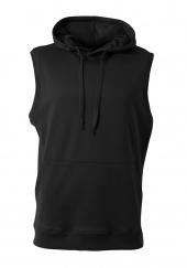 A4 N4002 Agility Sleeveless Tech Fleece Hoodie For Adult Size Male
