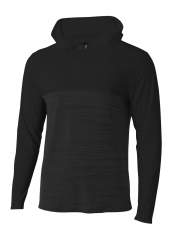 A4 N4013 Slate Quarter Zip Hoodie For Adult Size Male