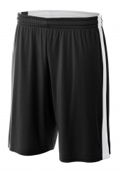 """A4 N5284 Reversible Moisture Management 10"""" Short For Adult Size Male"""