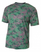 A4 NB3256 Camo Performance Tee For Youth Size Boys