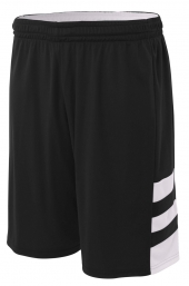 """A4 NB5334 Reversible Speedway 8"""" Short For Youth Size Boys"""