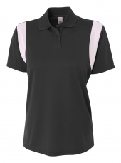 A4 NW3266 Color Block Polo with Knit Color