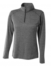 A4 NW4010 Women's Inspire Quarter Zip T-Shirt