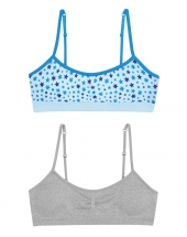 distressed star print/heather