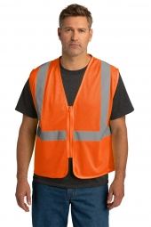 CornerStone CSV101 ANSI 107 Class 2 Economy Mesh Zippered Vest