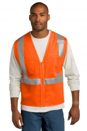 CornerStone CSV102 ANSI 107 Class 2 Mesh Zippered Vest