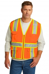 CornerStone CSV105 ANSI 107 Class 2 Surveyor Zippered Two-Tone Vest