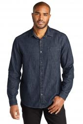 Port Authority Long Sleeve Perfect Denim Shirt W676