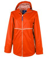 Charles River Women's New Englander Rain Jacket with Printed Lining