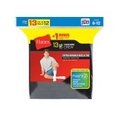 Hanes Men's Cushion Crew Socks (Includes 1 Free Bonus Pair)