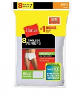 Hanes Men's No Ride Up Brief Bonus Pack