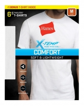 Hanes Men's Red Label X-Temp Crew Bonus Pack