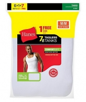 Hanes Men's TAGLESS® ComfortSoft® A-Shirt Bonus Pack