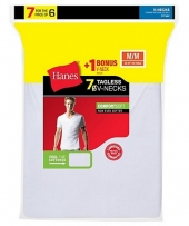 Hanes Men's TAGLESS® V-Neck Undershirt Bonus Pack