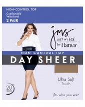 JMS Smooth Finish Regular Reinforced Toe Panty Hose Pair Pack
