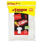 Hanes Boys' TAGLESS® Crewneck Undershirt Bonus Pack