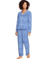 Hanes Knit Notched Collar PJ Set-Plus
