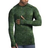 Service Green Glitch Texture