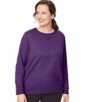 Just My Size ComfortSoft® EcoSmart® V-Notch Crewneck Women's Sweatshirt
