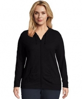 Just My Size Slub-Cotton Full-Zip Women's Hoodie