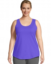 Just My Size Cotton Jersey Shirttail Women's Tank Top