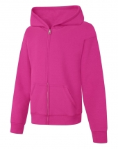 Hanes ComfortSoft™ EcoSmart® Girls' Full-Zip Hoodie Sweatshirt