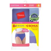 Hanes Cool Comfort™ Cotton Hi-Cut Panties Bonus Pack