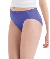 Hanes Women's Nylon Hi-Cut Panties