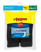 Hanes EZ-Sort® Boys' Crew Socks (Includes 1 Free Bonus Pair)