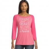 Clear Message/Racy Pink PE Heather/ Racy Pink Heather