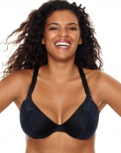 Just My Size Embellished Plunge Foam UW Bra