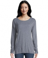 Hanes Women's Lone Sleeve top with Center Back Lace Detail
