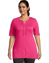 Just My Size Lace Up Tunic