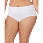 Just My Size Cotton TAGLESS Brief Panties  5-Pack, Basic Assortment