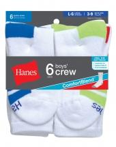 Hanes Boys' Crew ComfortBlend Socks