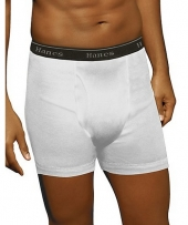 Hanes Classics Men's TAGLESS No Ride-up Boxer Briefs with Comfort Flex Waistband