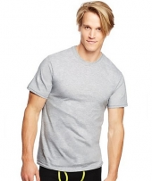 Hanes Classics Men's Traditional Fit ComfortSoft TAGLESS Black/Grey Crewneck Undershirt 3-Pack