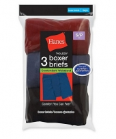 Hanes Boys' ComfortSoft Dyed Boxer Briefs 3-Pack