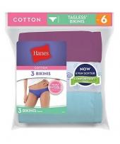 Hanes Women's Cotton Bikinis P3