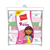 Hanes Girls' No Ride Up Cotton Briefs