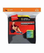 Hanes Men's Cushion No-Show Socks 6-Pack