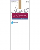 Hanes Silk Reflections Silky Sheer Knee Highs with Reinforced Toe