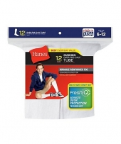Hanes Men's Over-the-Calf Tube Socks P12