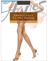 Hanes Plus Absolutely Ultra Sheer Control Top, Reinforced Toe Pantyhose