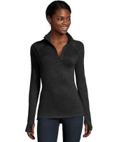 Hanes Sport™ Women's Performance Fleece Quarter Zip Sweatshirt