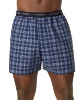 Hanes Men's Yarn Dyed Plaid Boxers