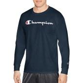 Champion Men Classic Jersey L/S Tee-Graphic - Chest Script