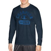 Champion Men Classic Jersey L/S Tee-Graphic - Gym Fade