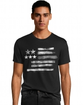 Men's Black & White Flag Graphic Tee