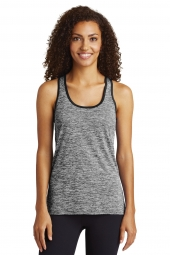 Ladies PosiCharge Electric Heather Racerback Tank